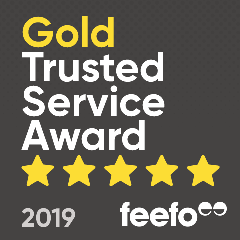 Feefo Gold Trusted Service logo