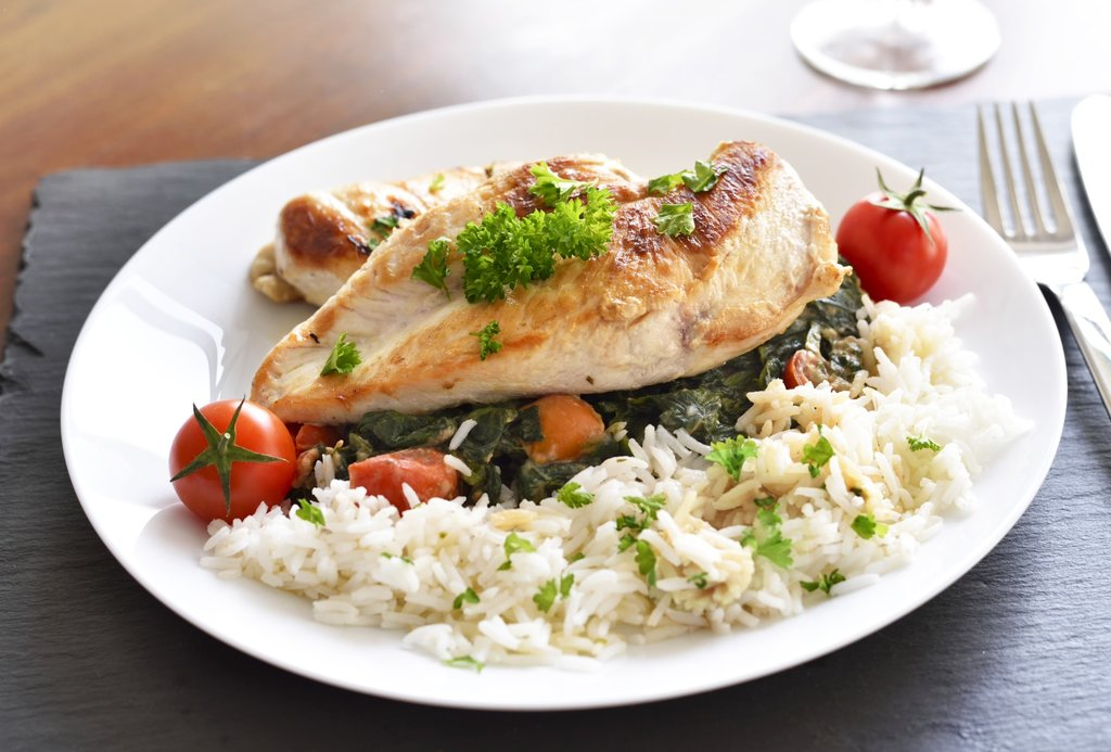Garlic chicken with rice