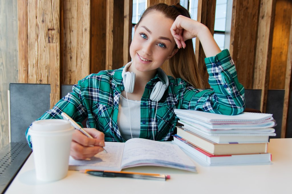 Girl doing revision