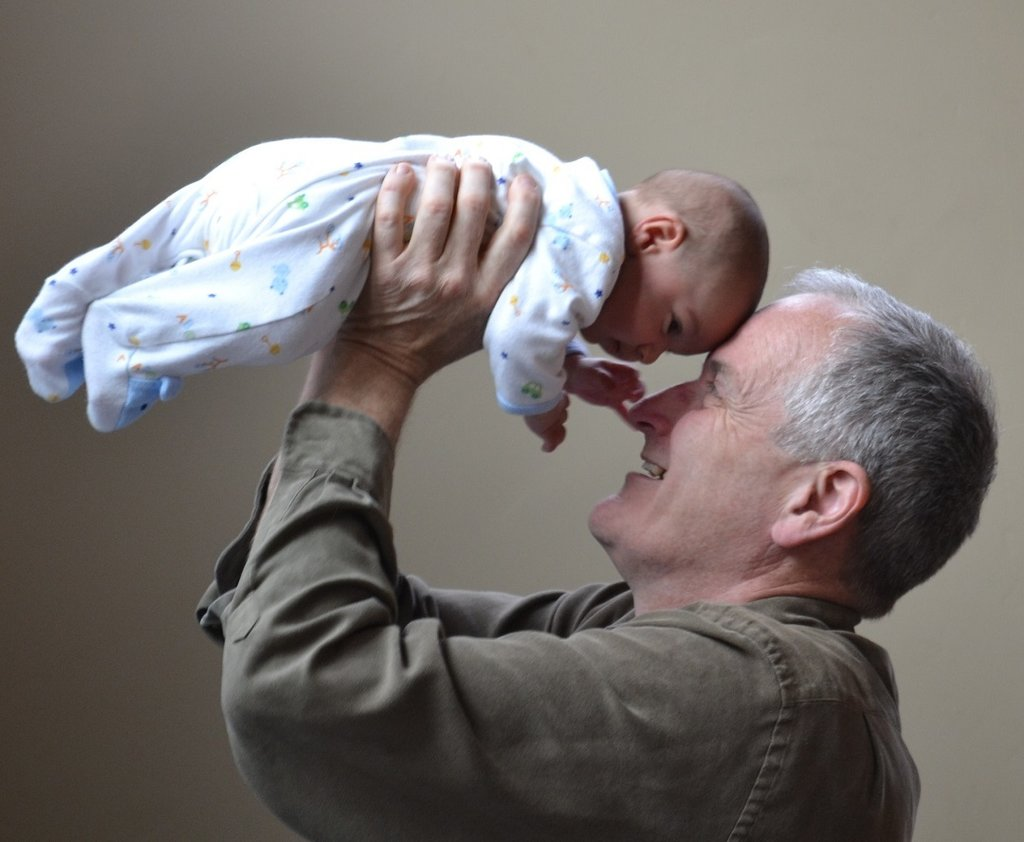 granddad with baby
